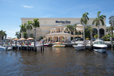 Marina One Yacht Club as seen from the water